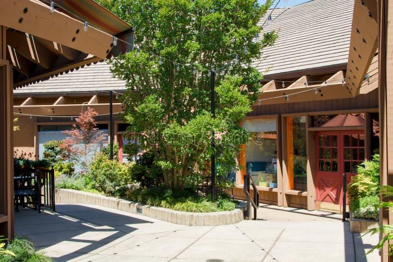 City of Saratoga, California Village Square royalty free stock photography