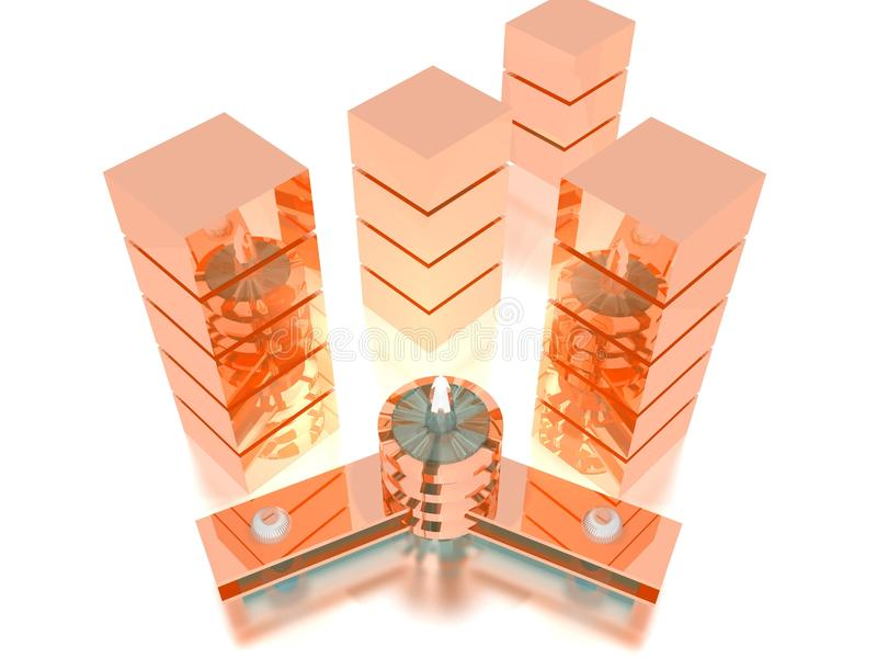 Download City scape stock illustration. Image of glass, color - 13311280
