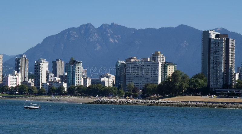Download City scape stock photo. Image of bathers, beach, ocean, vancouver - 15978