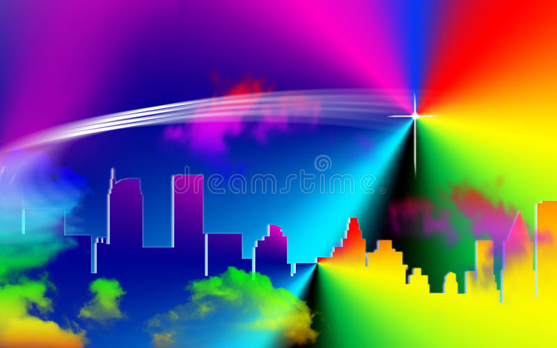 Download City scape stock illustration. Image of mayan, jerusalem - 23227116