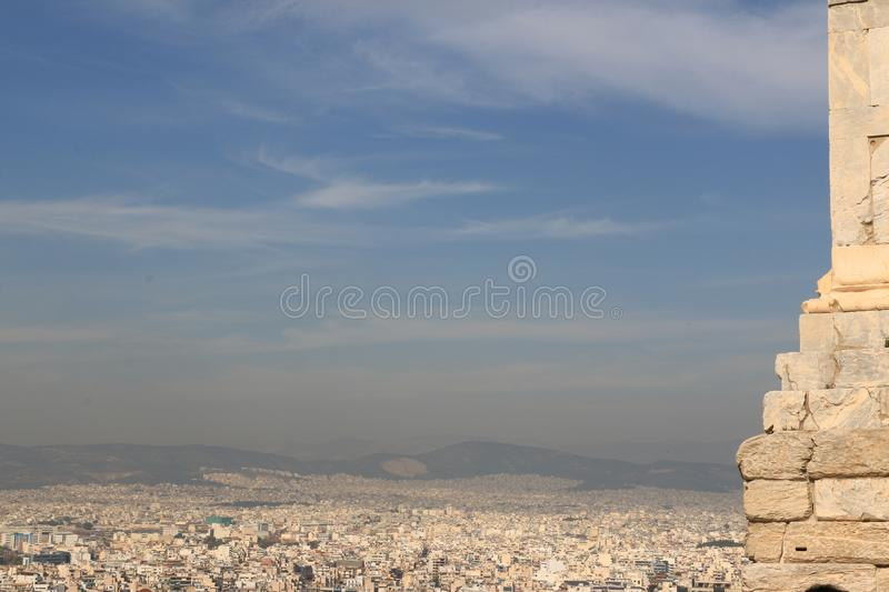 PARTHENON - ACROPOLIS - ATHENS cityview royalty free stock photography