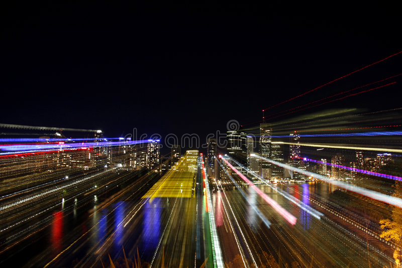 City scape explosion stock images