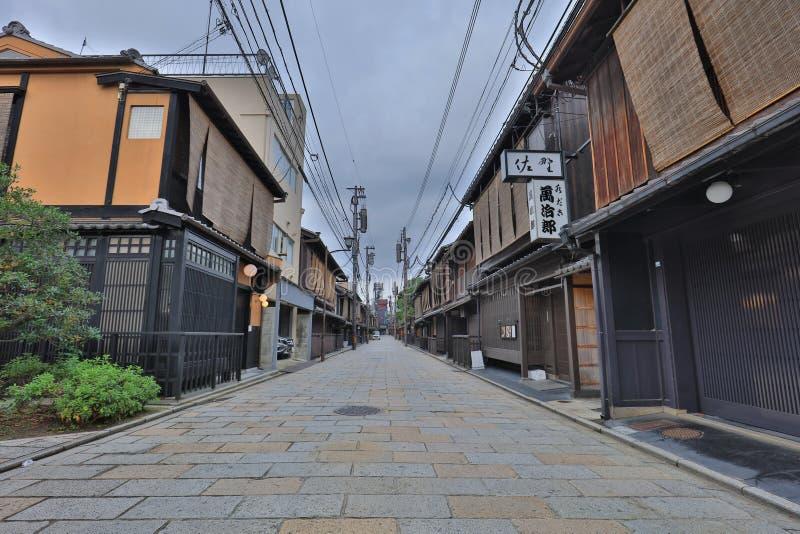 The City scape of Gion Shirakawa at night. City scape of Gion Shirakawa at night stock photography