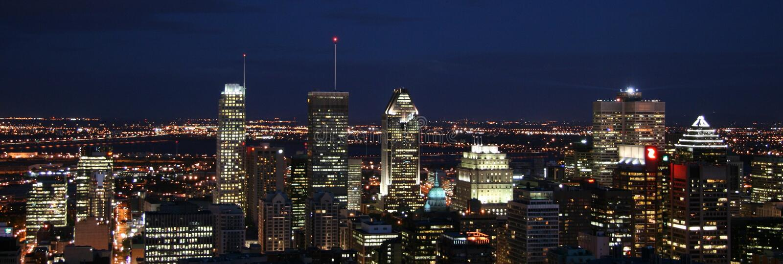 City scape montreal Canada Lights Skyline zdjęcie royalty free