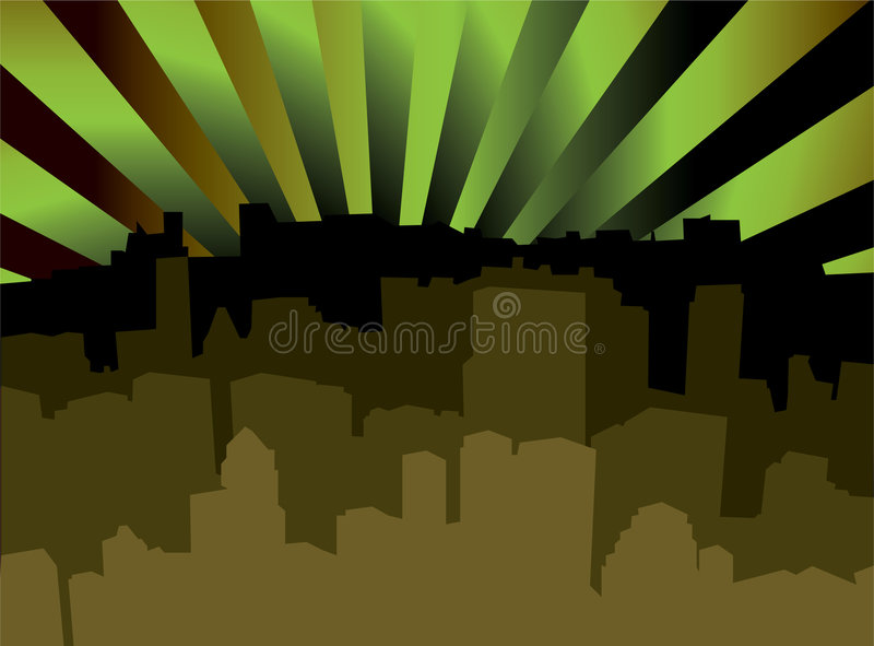 City Scape Shady Stock Images
