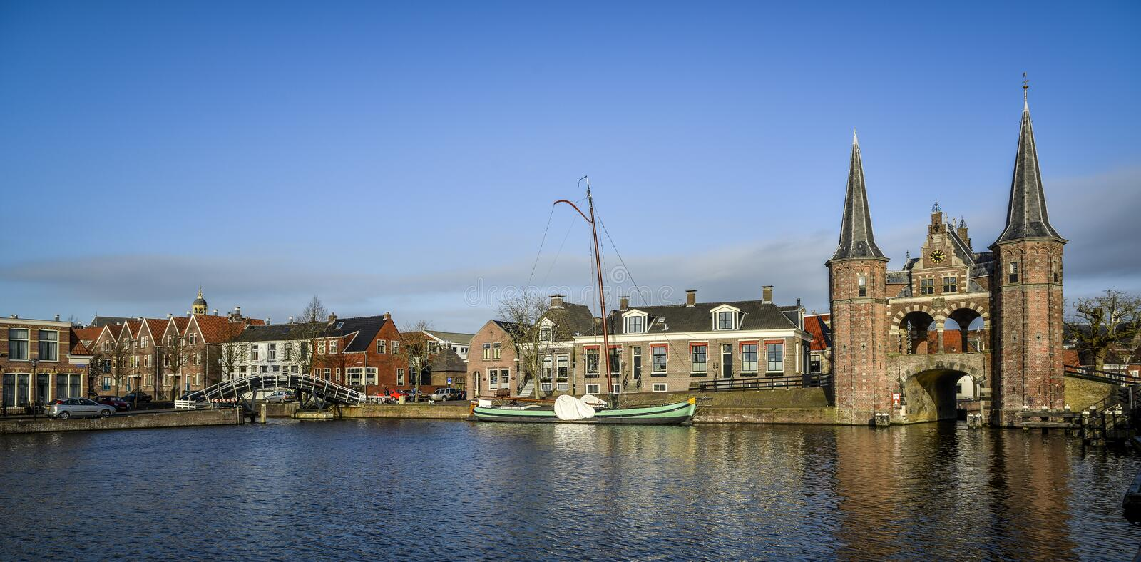 City scape of sneek stock photography