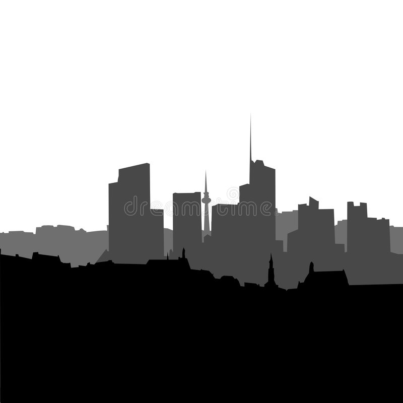 CITY SCAPE VECTOR BACKGROUND Royalty Free Stock Photos