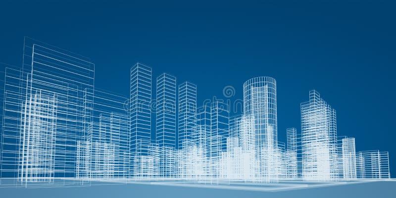 City scene royalty free illustration