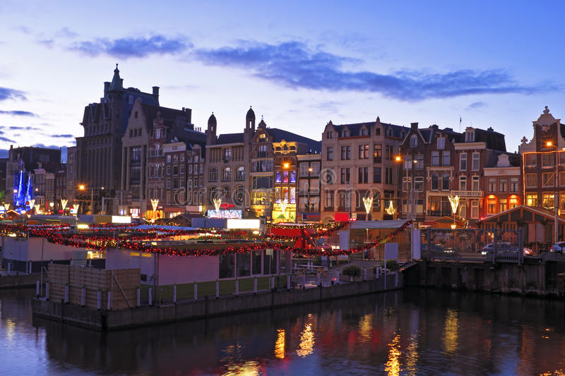 Download City Scenic From Amsterdam Netherlands By Night Stock Photo - Image: 38698620