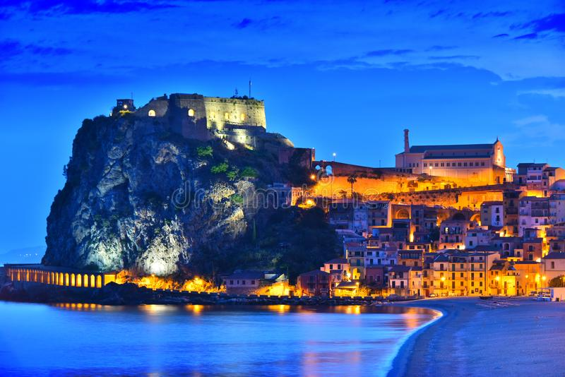 The city of Scilla in the Province of Reggio Calabria, Italy royalty free stock image