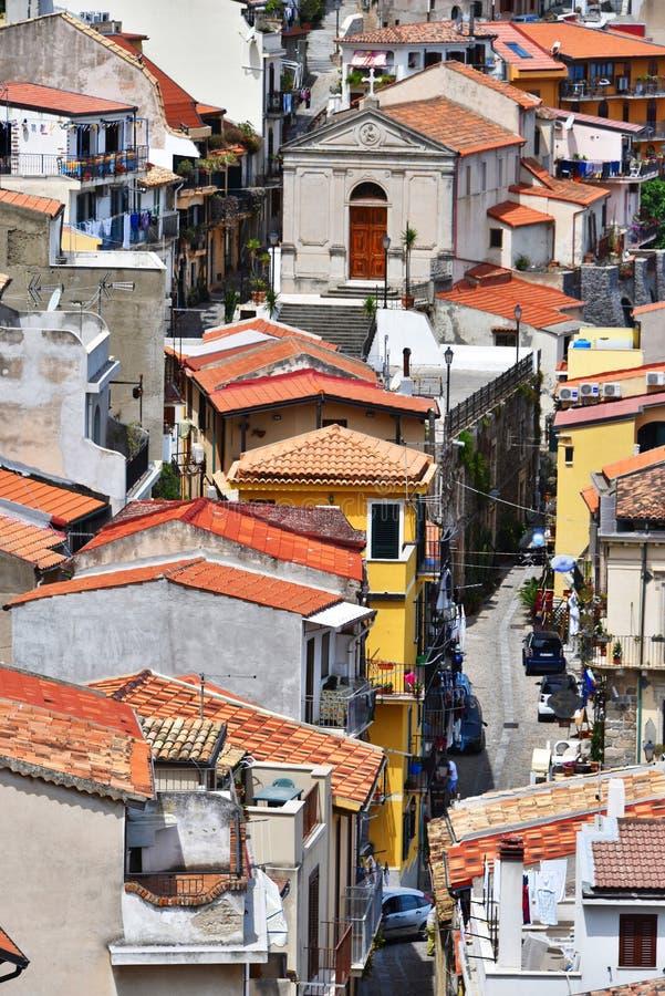 The city of Scilla in the Province of Reggio Calabria, Italy.  stock photos