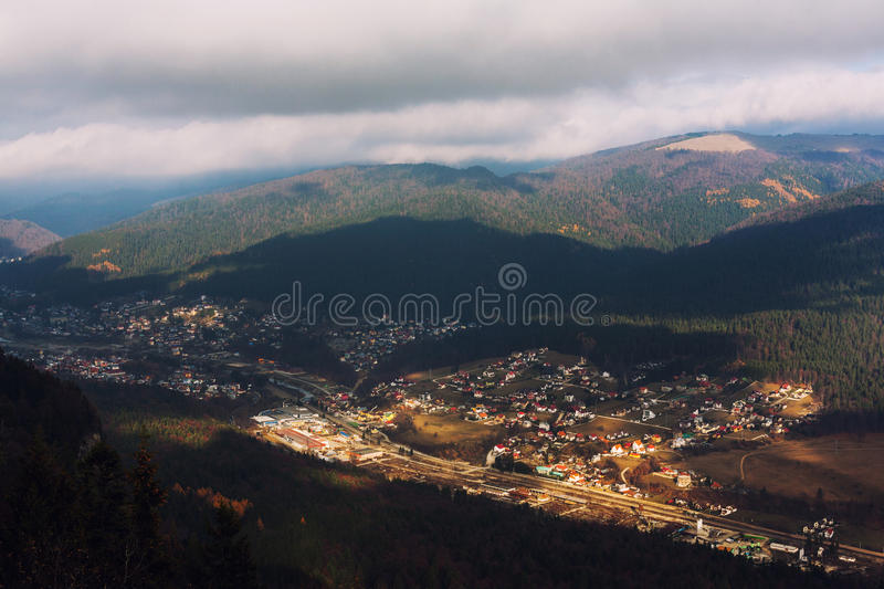 Download City seen from above stock photo. Image of small, lighted - 37728318