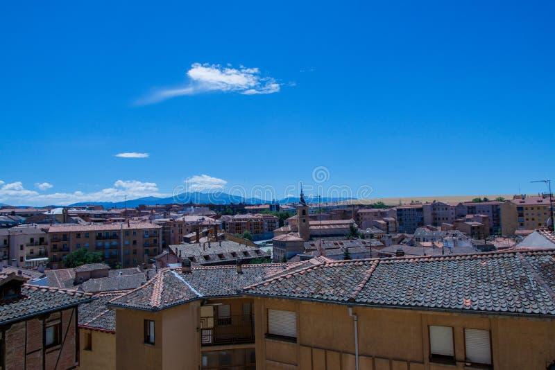 City of Segovia stock image
