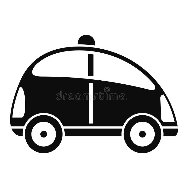 City self driving car icon, simple style stock illustration