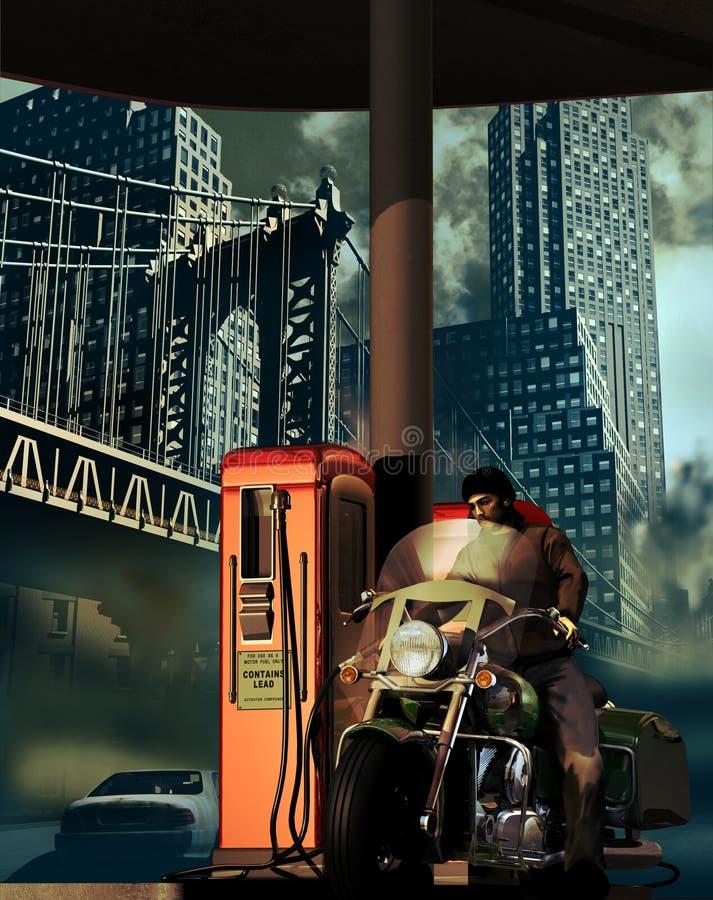 Download City service station stock illustration. Illustration of hose - 36011847