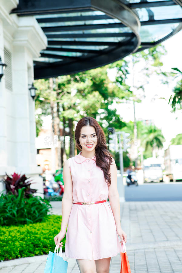 Download City shopping stock image. Image of asian, outdoors, girl - 28055107