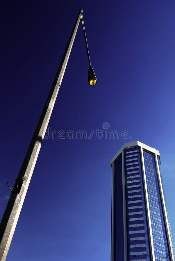 Download City Sidewalk stock photo. Image of blue, lamp, lights - 2316570