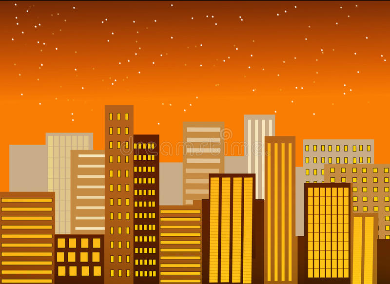 Download City silhouette stock vector. Image of colours, elements - 16276353