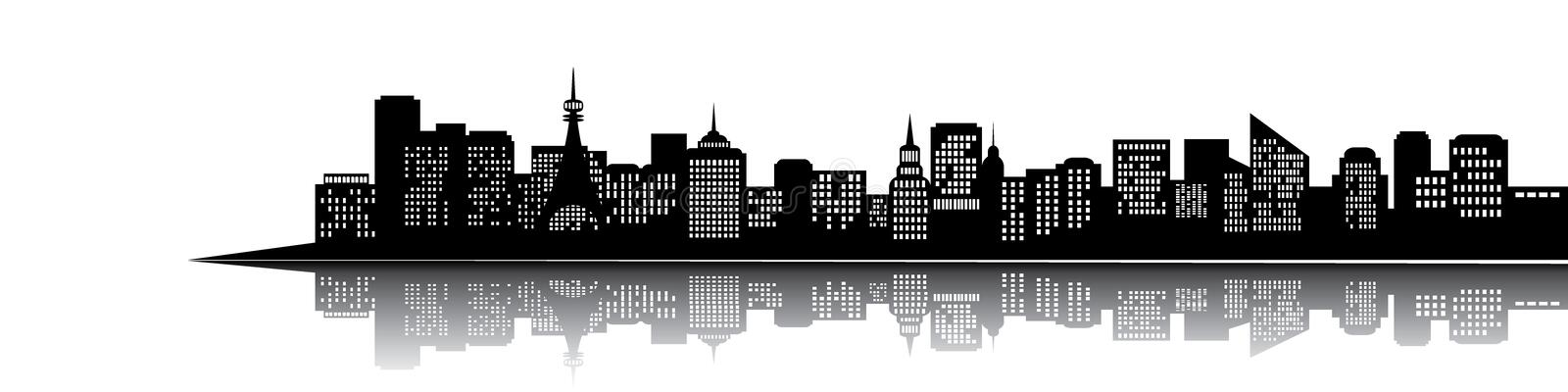 Download City silhouette stock vector. Image of imagination, banner - 20151075
