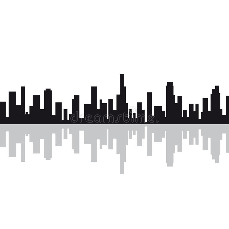 City silhouette. Design element vector illustration vector illustration