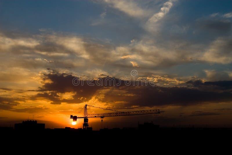 City sky stock photos