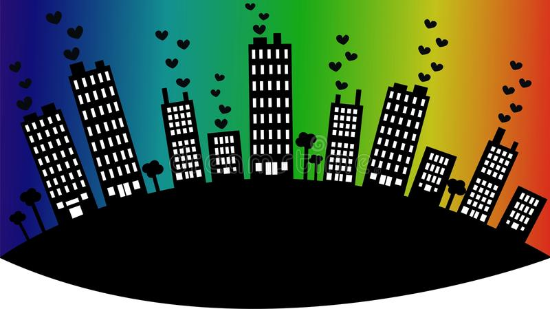 City skyline royalty free illustration