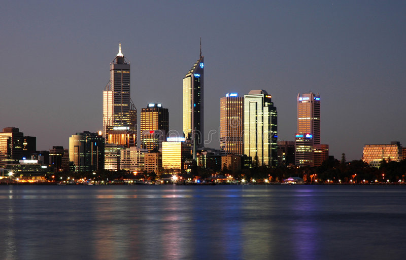 Download City Skyline stock photo. Image of tower, river, refelection - 478300