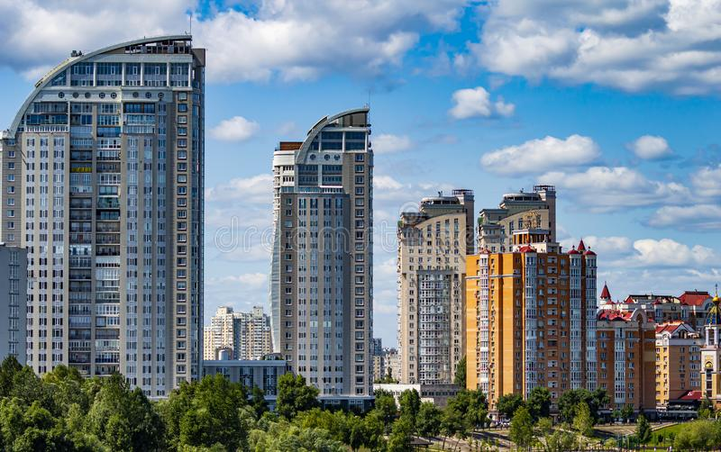 City skyline against the blue sky royalty free stock images
