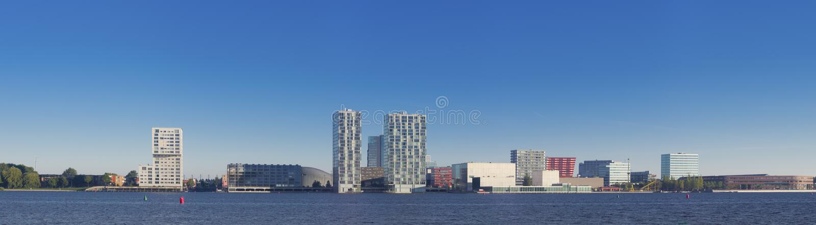 City skyline. Skyline of Almere, Netherlands. Almere is the youngest and fastest growing city in the country, founded around 1975 royalty free stock photos