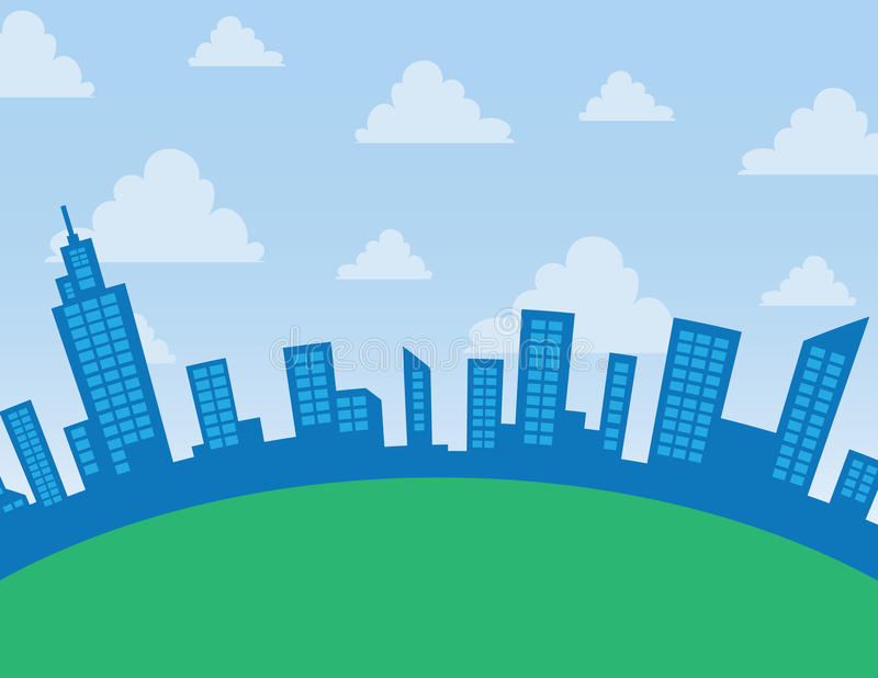 Download City Skyline Arc stock vector. Image of grass, blue, vector - 25738819