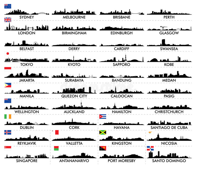 City skyline Australia and the Island country. For design stock illustration