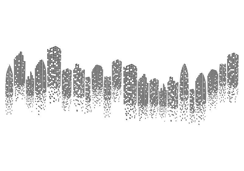 City skyline vector illustration. City skyline background vector illustration design royalty free illustration