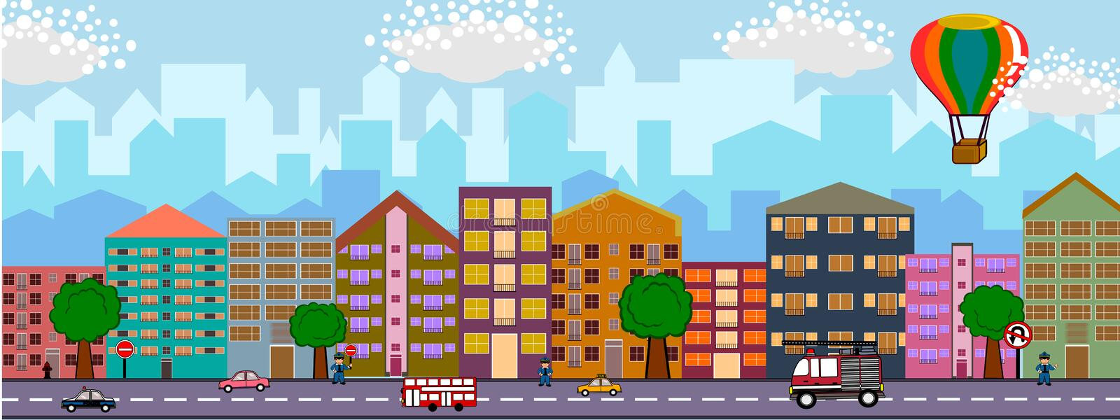 City skyline. Concept illustrations in detail