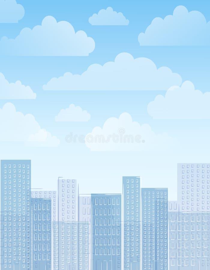 City Skyline Daytime Background stock illustration