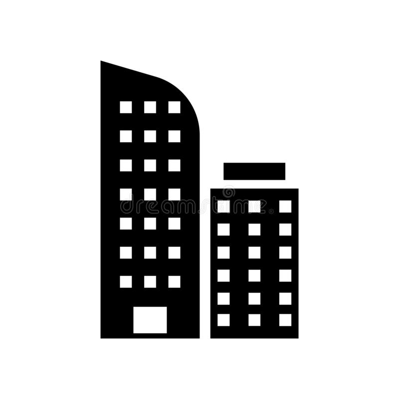 City Skyline icon vector isolated on white background, City Skyline sign , construction symbols. City Skyline icon vector isolated on white background, City royalty free illustration