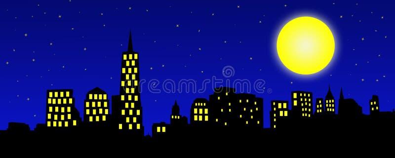 City Skyline Illustration stock images