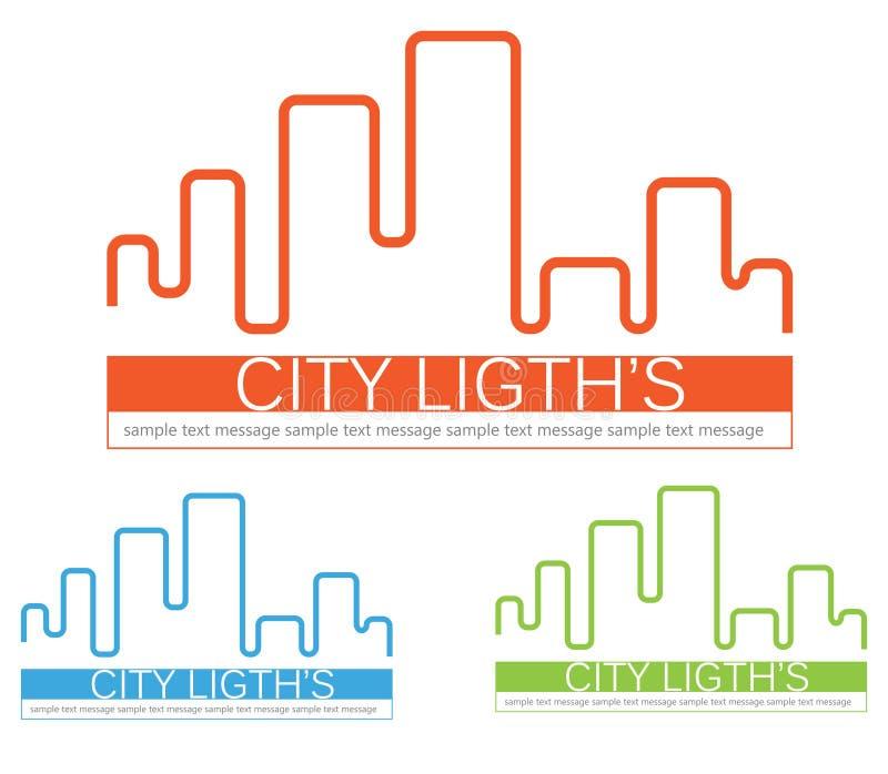 City skyline logo stock photo