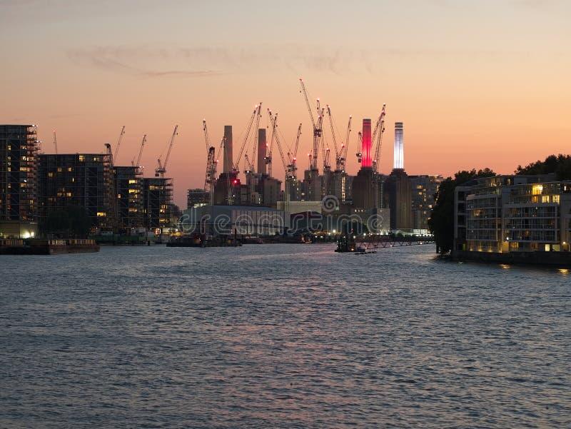 City skyline of London at dusk. stock image