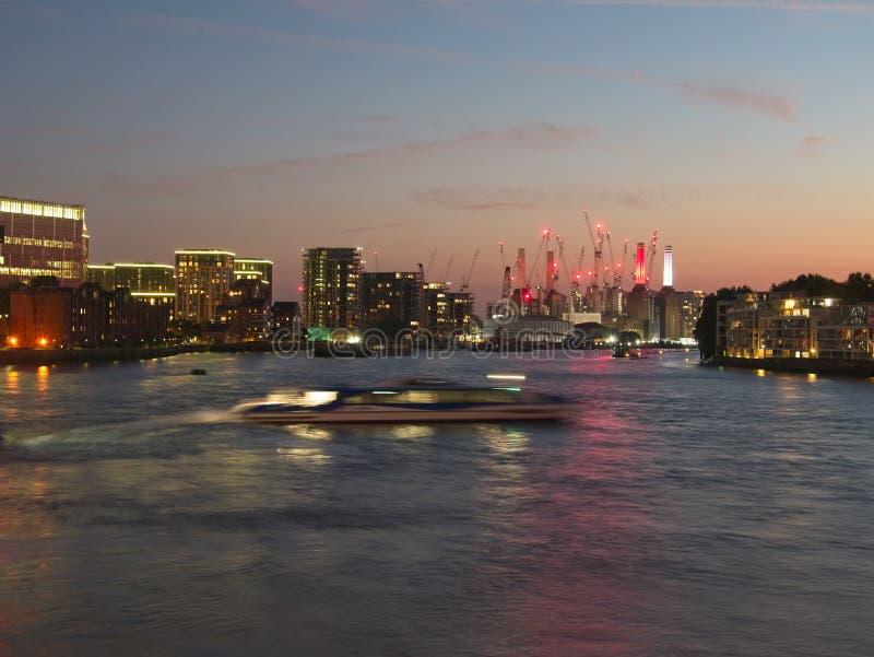 City skyline of London at dusk. royalty free stock photos