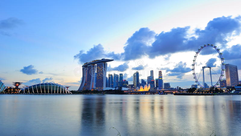 Download City Skyline Of Marina Bay Singapore Stock Photo - Image of develop, tourist: 26633228