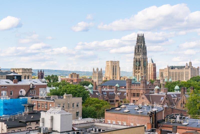 New Haven, Connecticut City Skyline. City skyline of New Haven, Connecticut stock photo