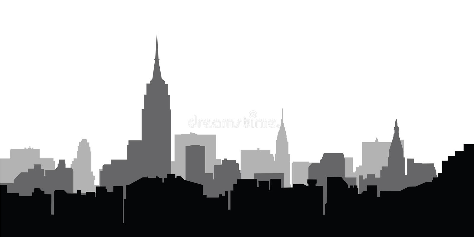 City skyline New York vector vector illustration