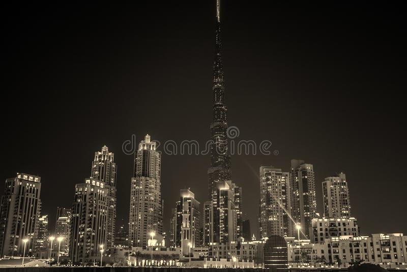 City Skyline During Night Time stock image