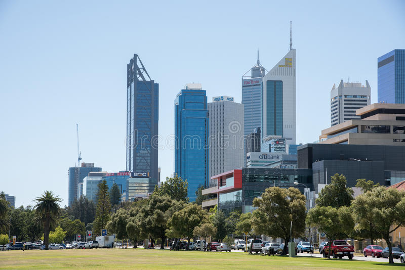 City Skyline in Perth royalty free stock photos