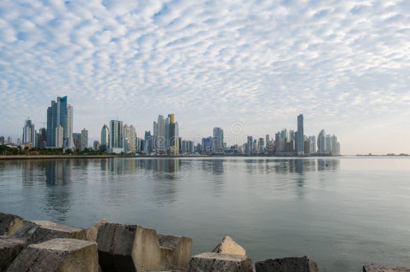City skyline, skyscraper buildings, modern cityscape of Panama C royalty free stock photo