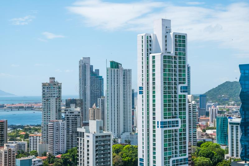 City skyline, skyscraper buildings, modern cityscape of Panama C stock photos