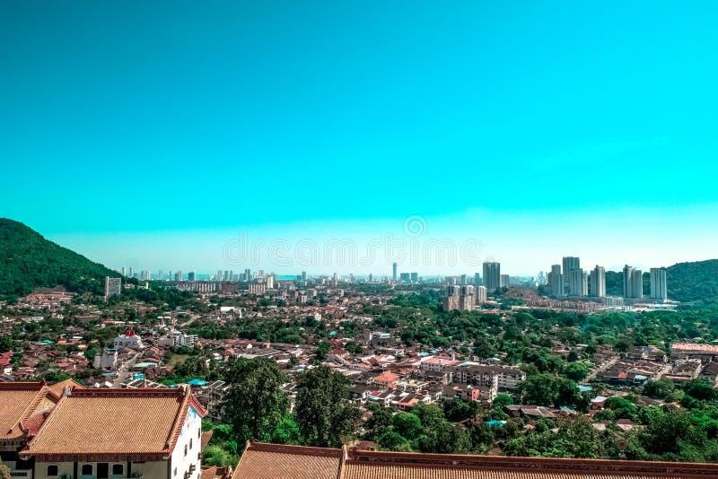 City Skyline Under Blue Sky stock photo