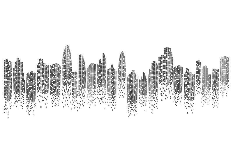 City skyline vector illustration. City skyline background vector illustration design vector illustration