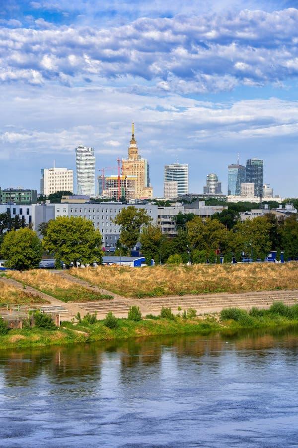 City Skyline of Warsaw in Poland stock photo