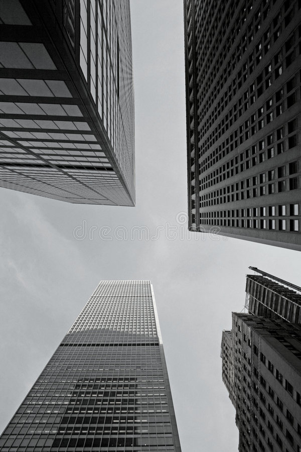 City Skyscrapers Royalty Free Stock Photos